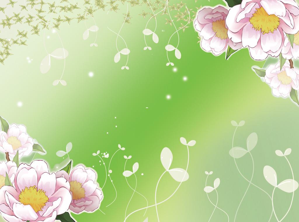 山茶花背景墙模板下载 山茶花背景墙图片下载图片