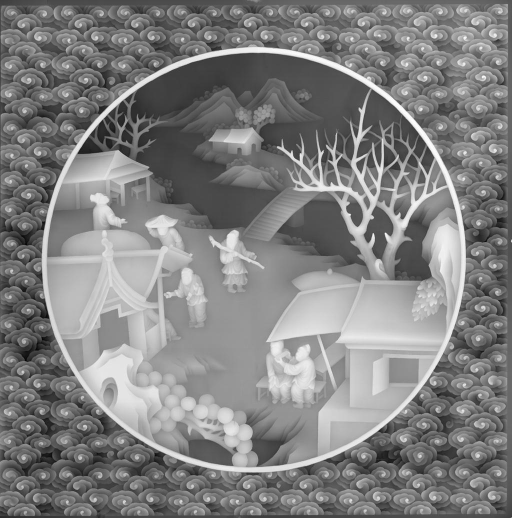 铜钱红木雕刻图片