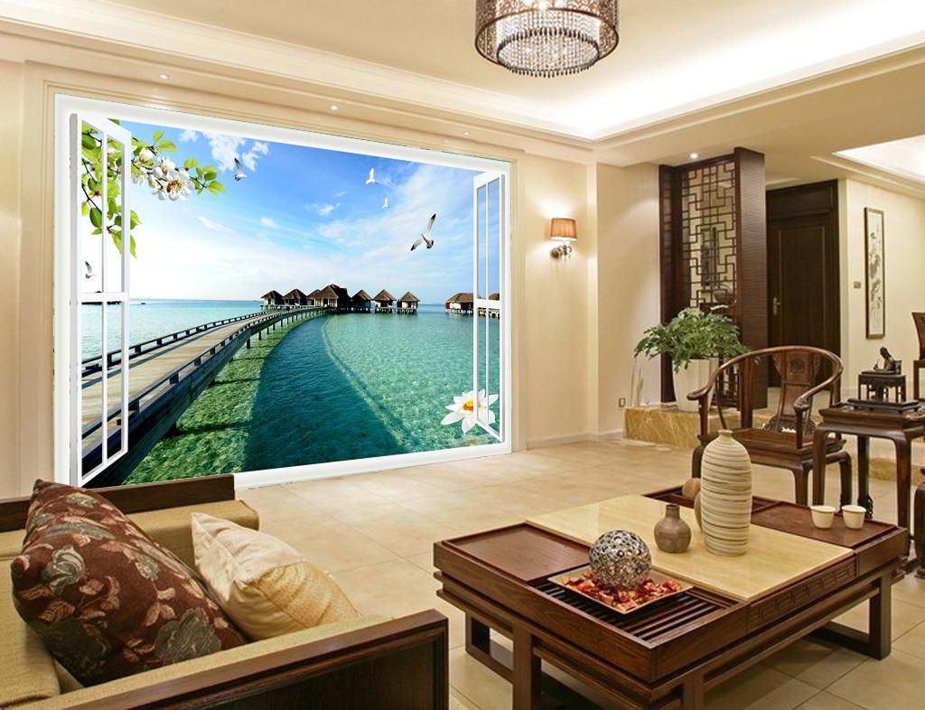 沙发背景墙高清图片下载(图片编号12499377)风景壁画