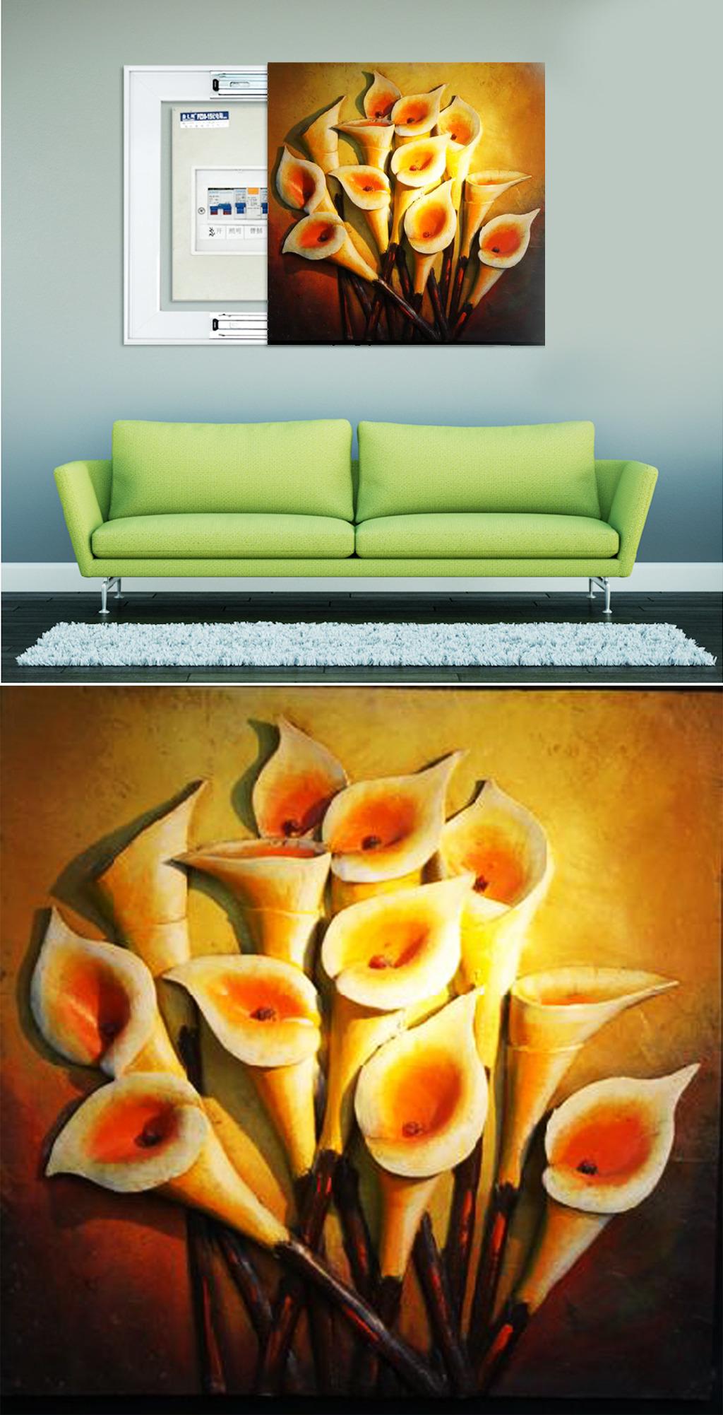 欧式浮雕油画装饰画背景墙图片下载
