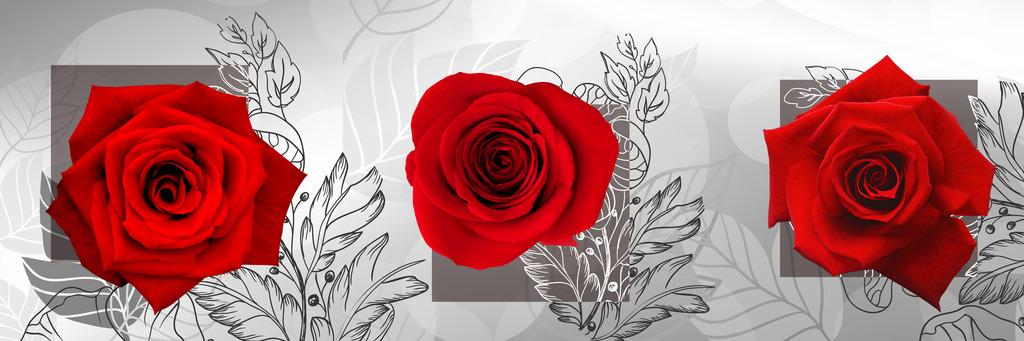 玫瑰花精美餐厅无框画