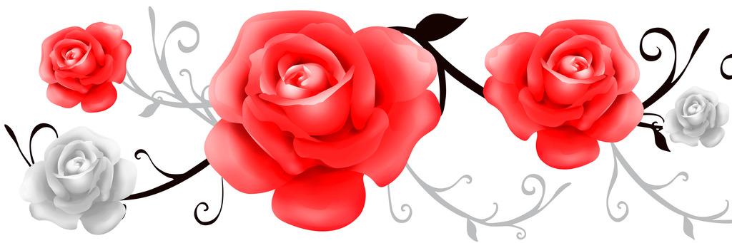 玫瑰花立体动态装饰画