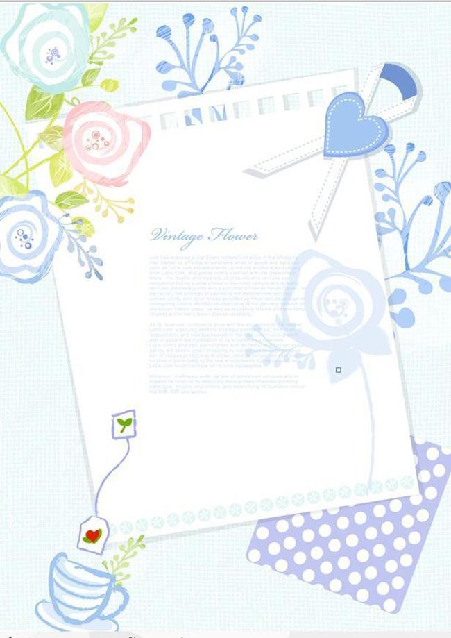 抽象手绘花朵信纸背景