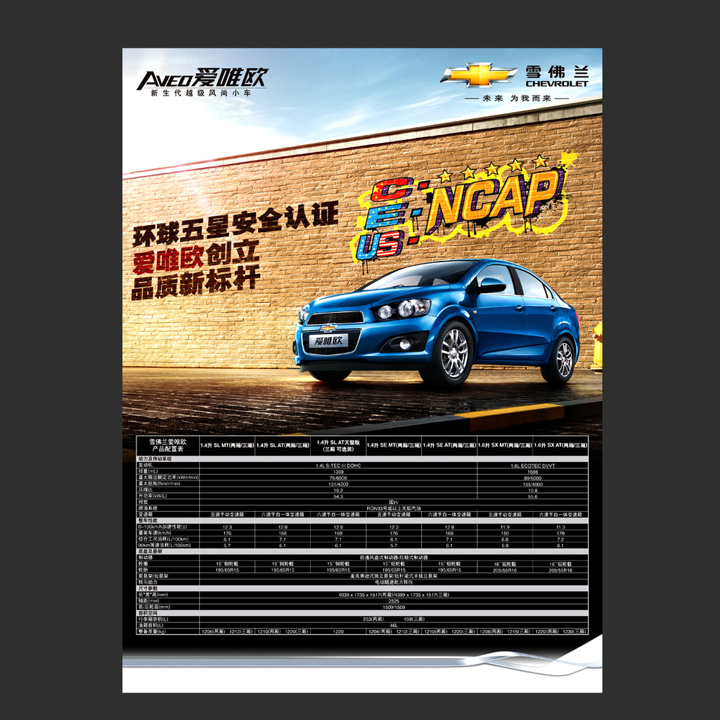 爱唯欧汽车配置表宣传单页素材下载模板下载(图片编号图片
