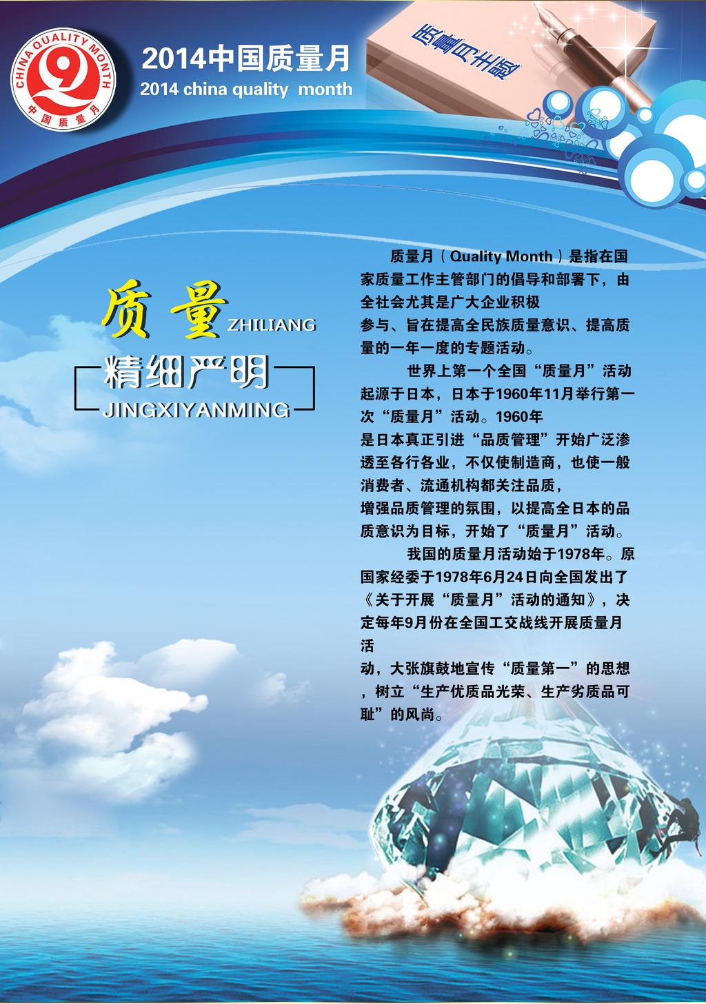 2014中国质量月展板设计模板素材