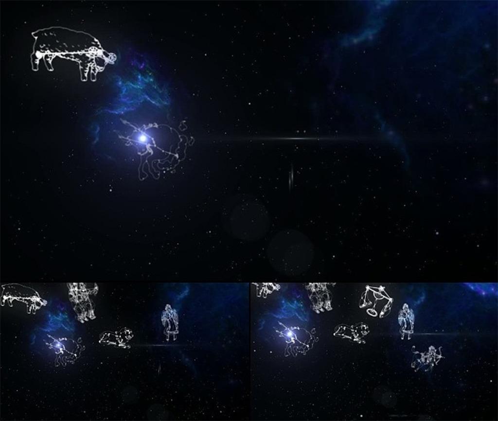 十二星座星空背景ae视频模板图片