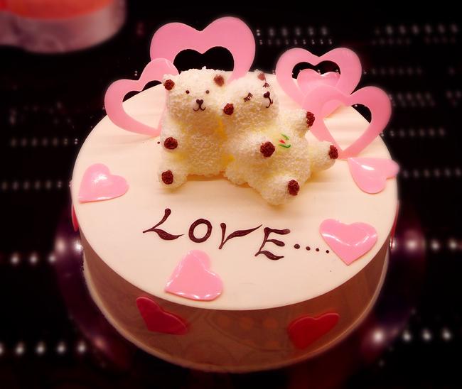 情侣蛋糕粉色蛋糕水果蛋糕奶油蛋糕可爱