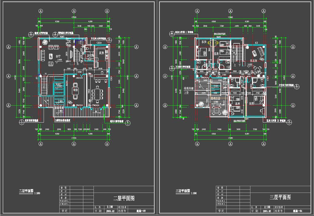 两套别墅户型图模板下载(图片编号:12510364)
