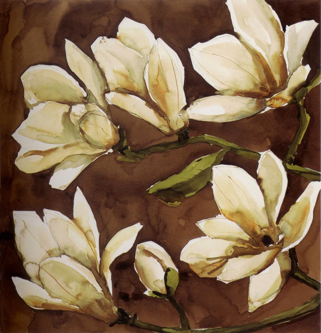 手绘油画装饰画花