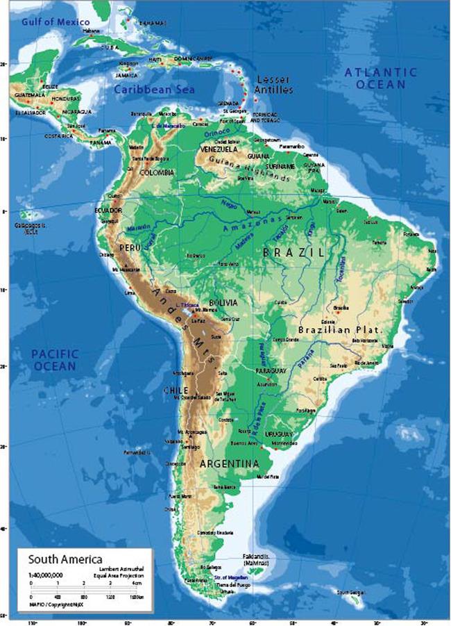 平面设计 地图 世界地图 > 南美洲地图英文版  :20我图币载入中.