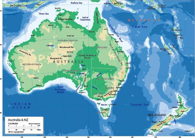 澳大利亚地图英文版