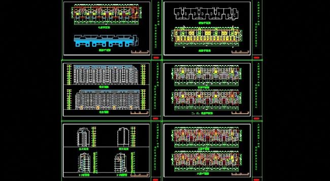住宅施工图 居民住宅建筑设计 小区方案 小区住宅户型cad平面图 居住