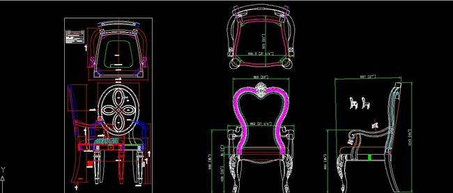 欧式家具设计之欧美餐桌椅+现代椅cad2