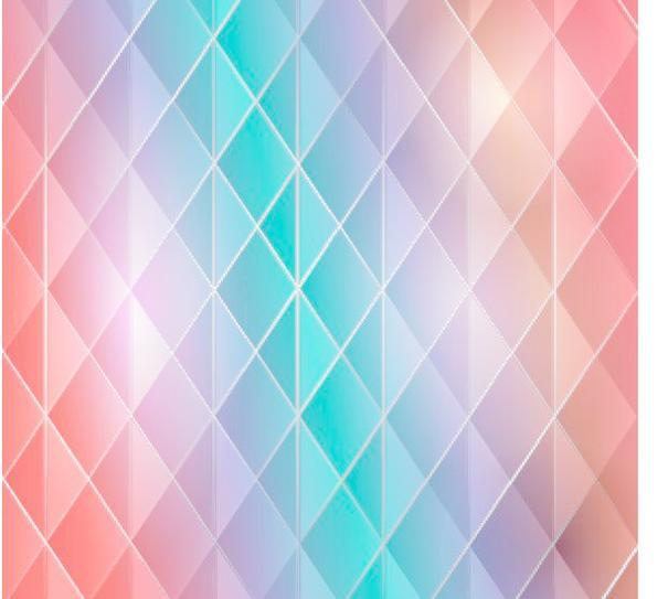 渐变 彩色 菱形 矢量背景