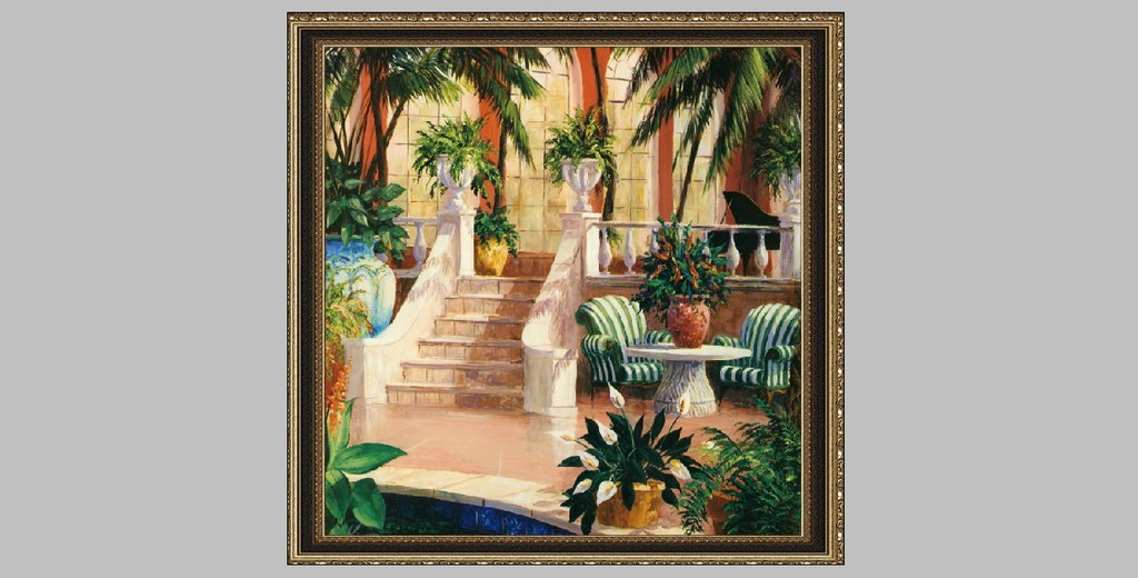 风景油画 手绘图片