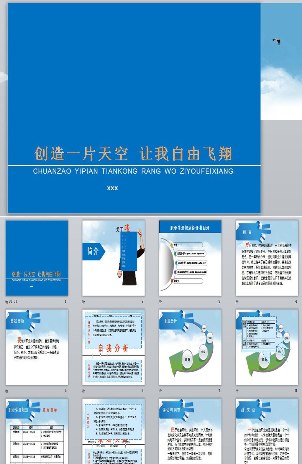 职业生涯规划ppt模板模板下载图片编号:12523530图片-it职业生涯规