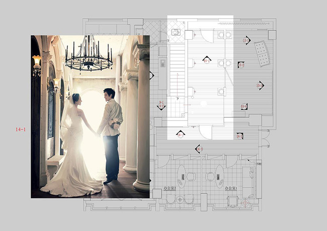 婚纱店施工图 欧式家具展厅
