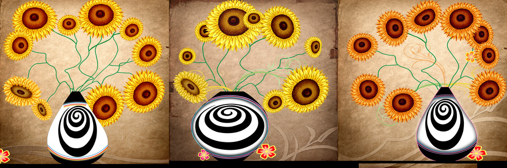 背景墙|装饰画 壁画 花卉壁画 > 向日葵装饰画  下一张&gt图片