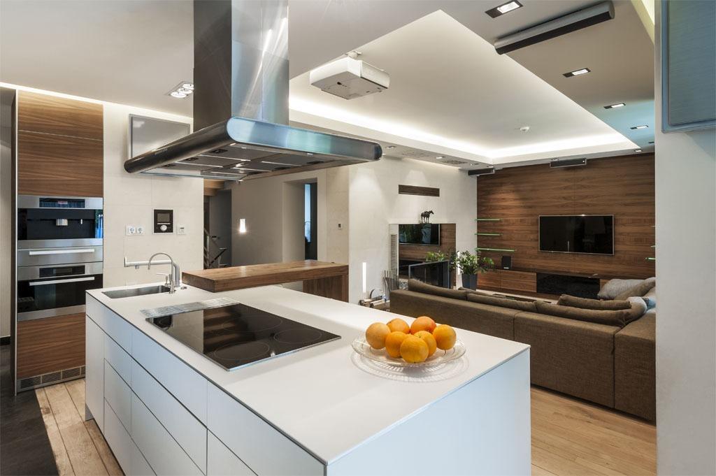 开放式厨房装修效果图图片