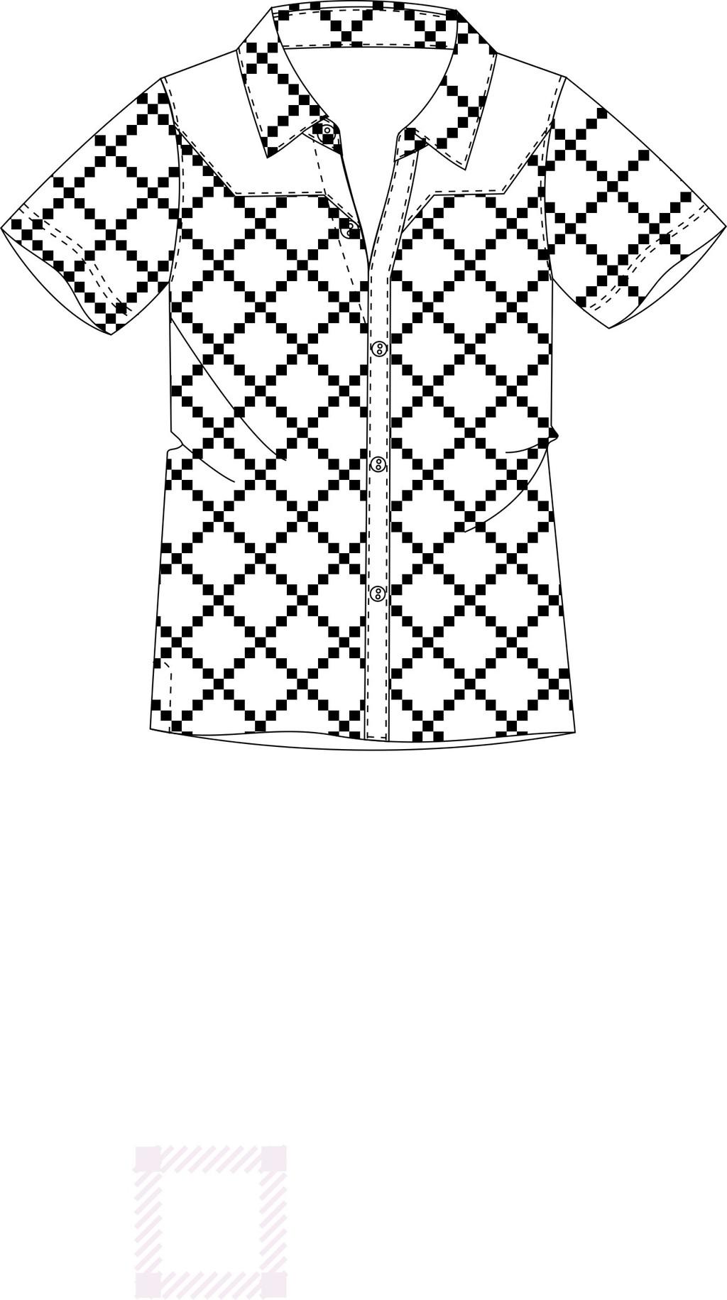 前卫 男士翻领衬衫 夏季时尚短袖男衬衫cdr格式 时尚休闲 男衬衫设计
