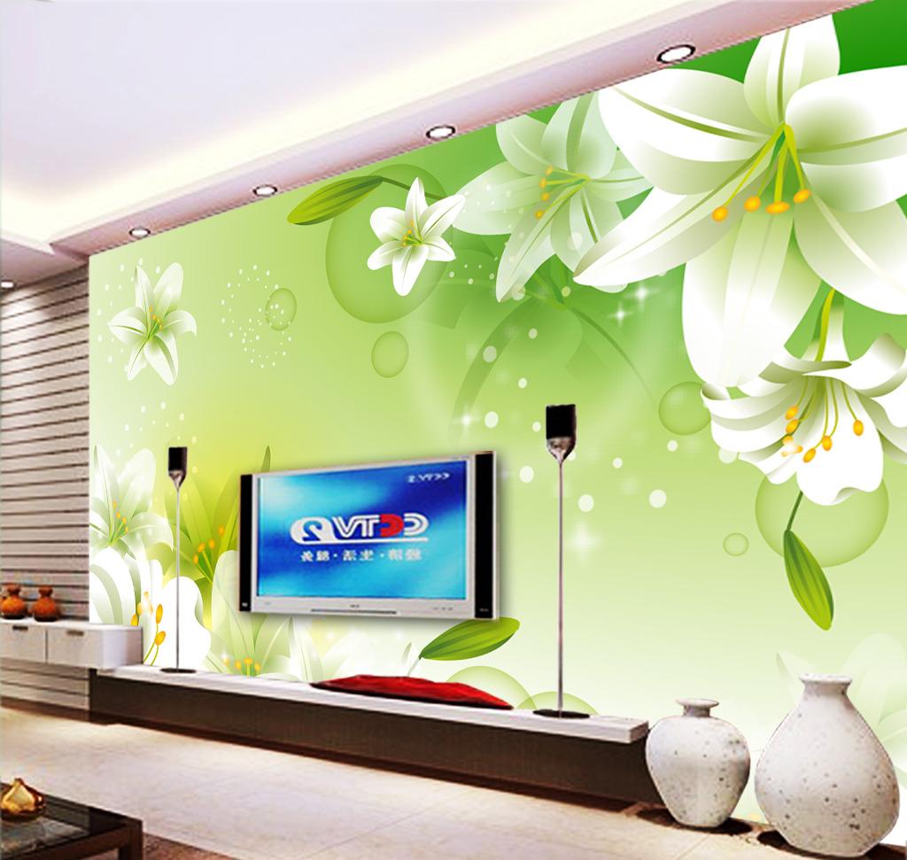 百合电视背景墙高清图片下载(图片编号12545905)客厅