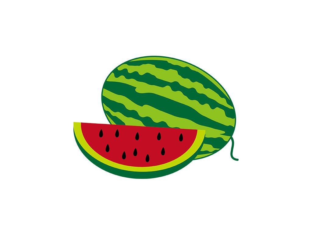 矢量西瓜 西瓜切面 水果卡通图片下载