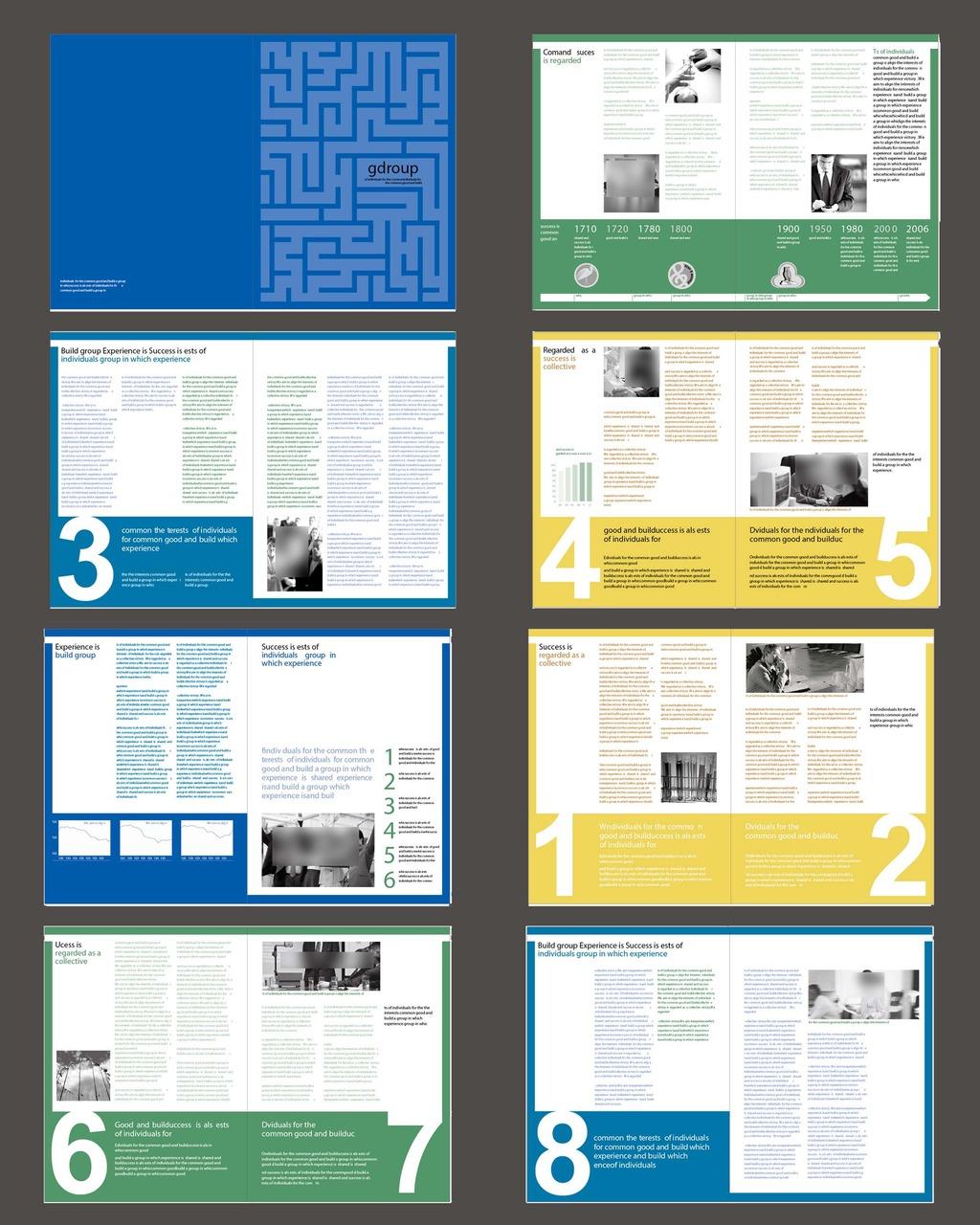 杂志版式设计模板下载