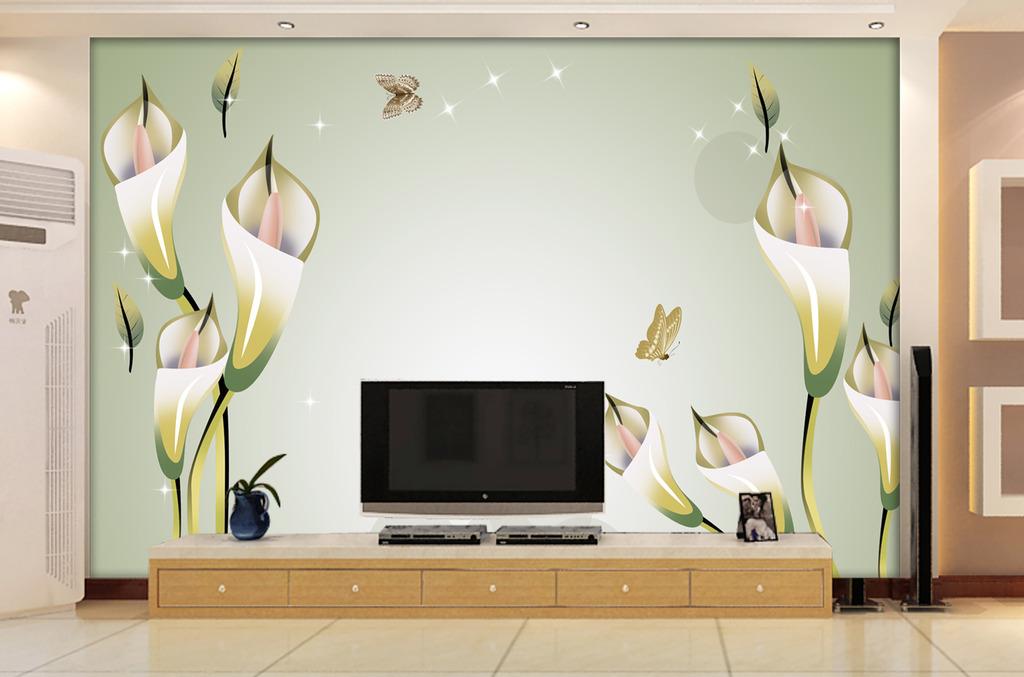 电视背景墙百合花高清图片下载(图片编号12549971)墙