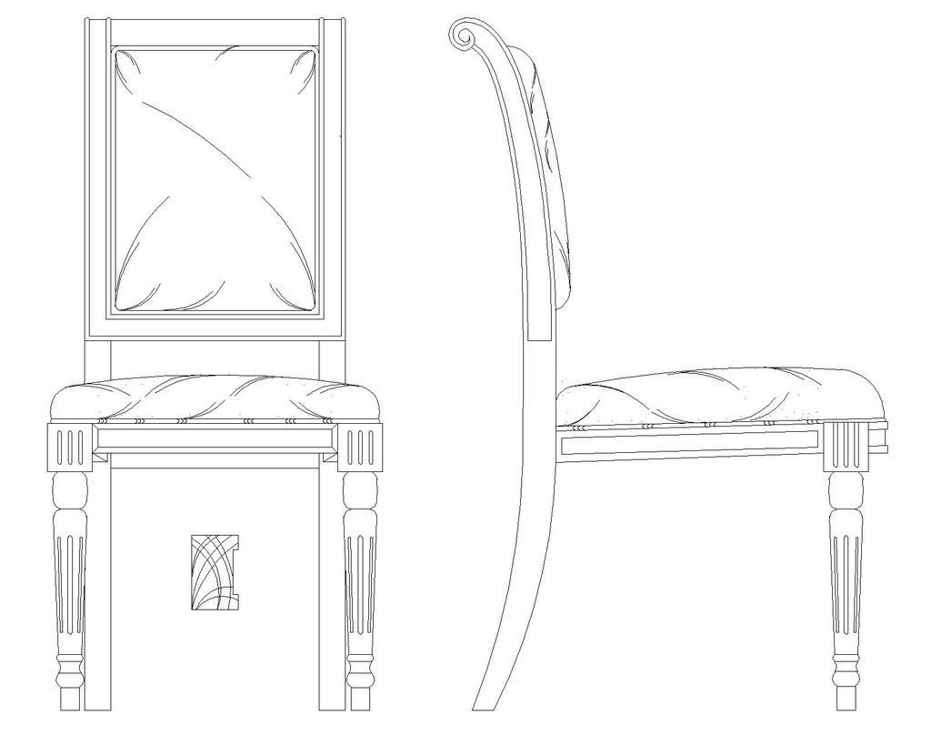 学画椅子简笔画步骤
