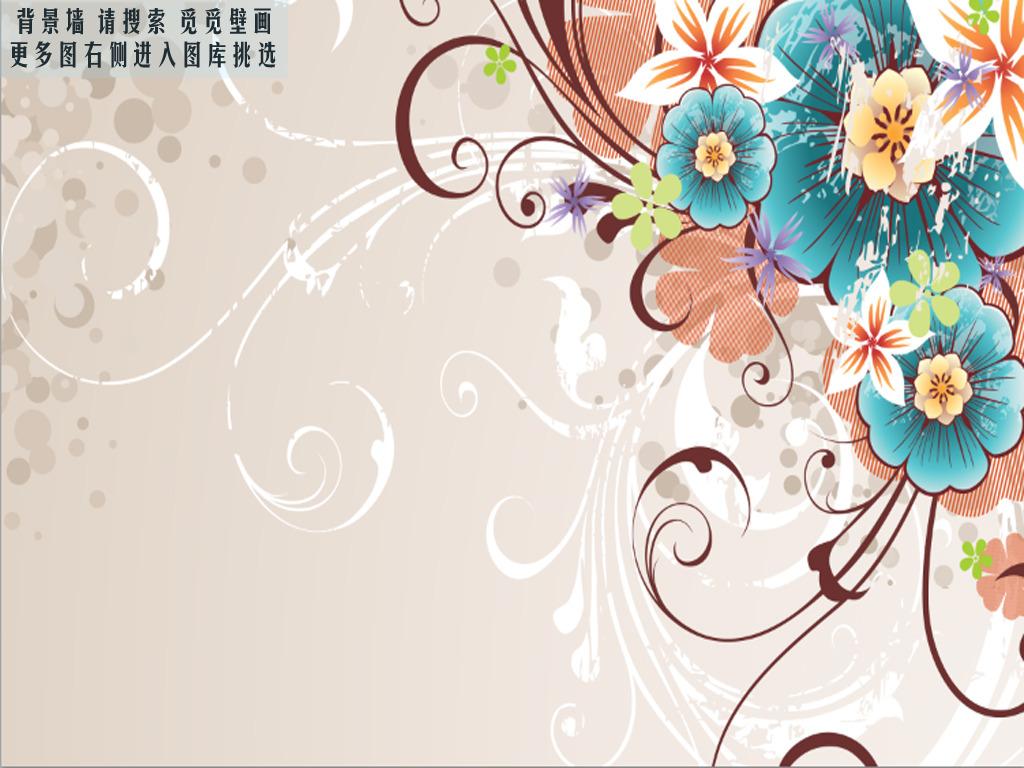 现代简约欧式花纹觅觅壁画高清图片下载(图片编号)墙