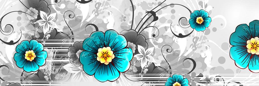 小花花卉手绘植物花卉装饰画壁画