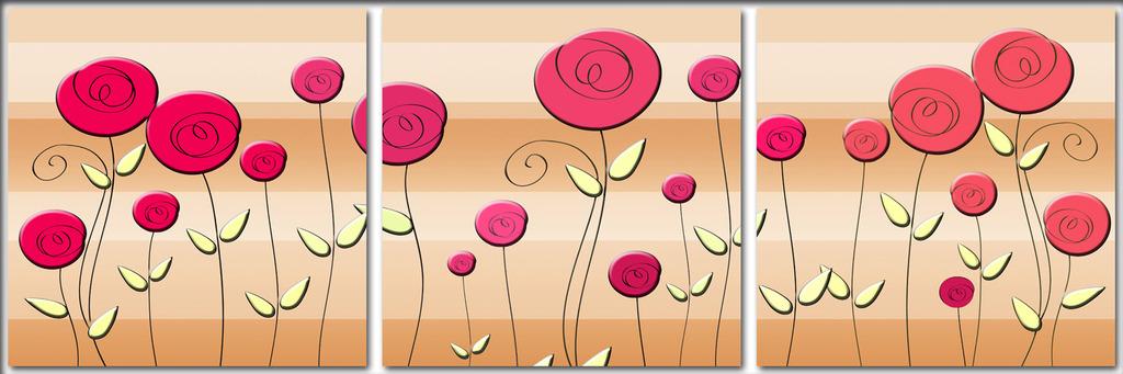 郁金香植物花卉抽象画
