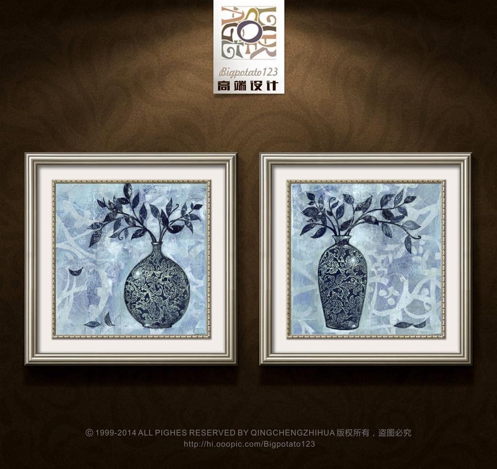 花瓶装饰花纹简笔画内容图片展示