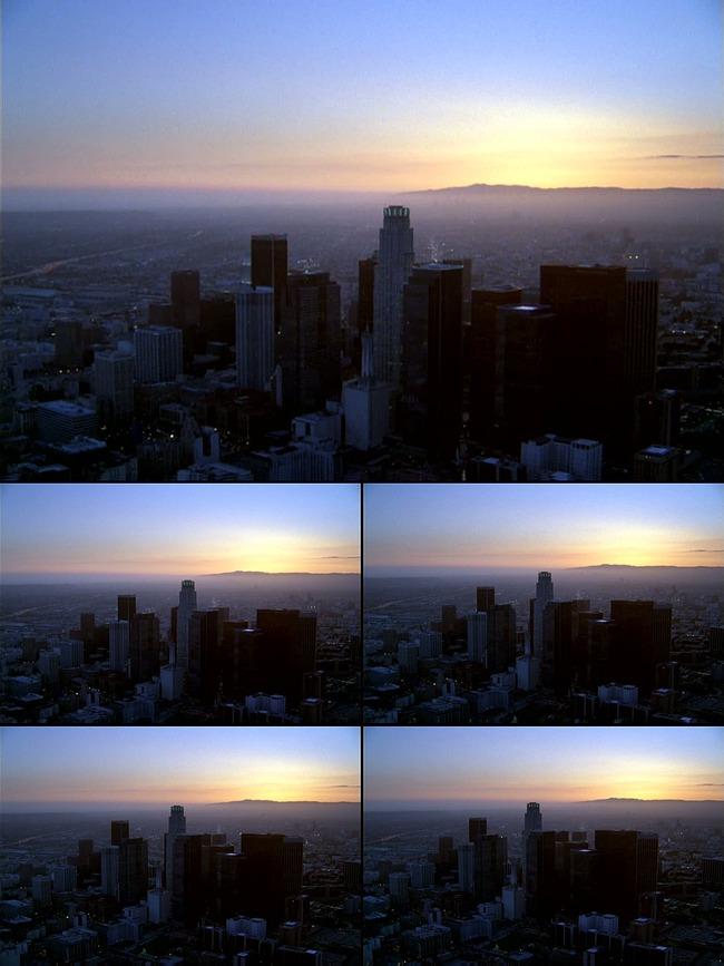高楼大厦城市全景航拍视频