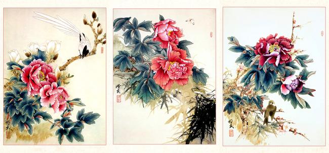 国画牡丹花卉高清图片下载(图片编号12561467)工笔画