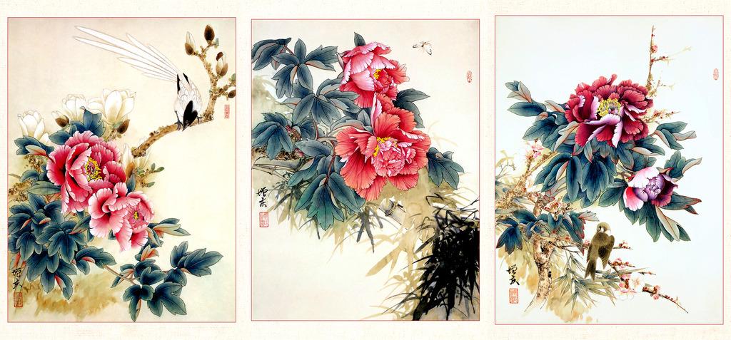 国画牡丹花卉