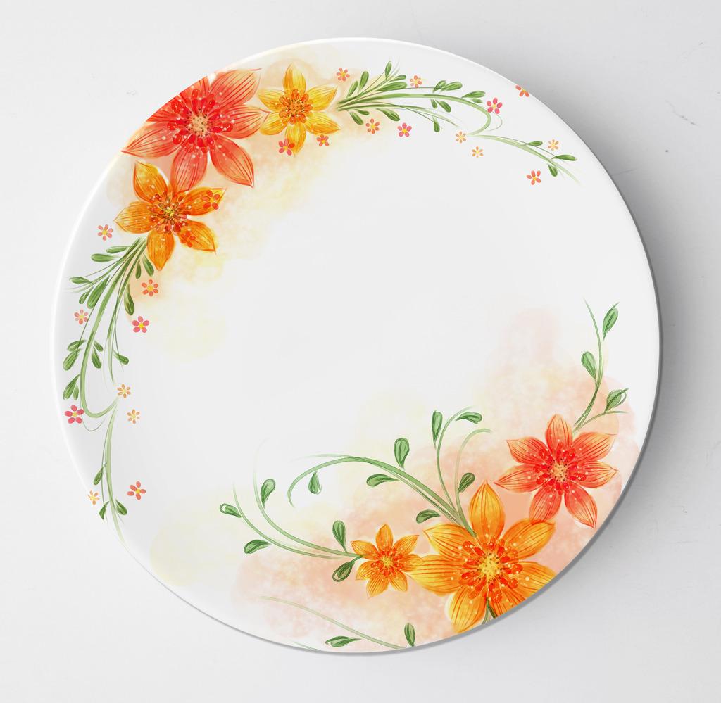 盘子花纹 盘子图案设计