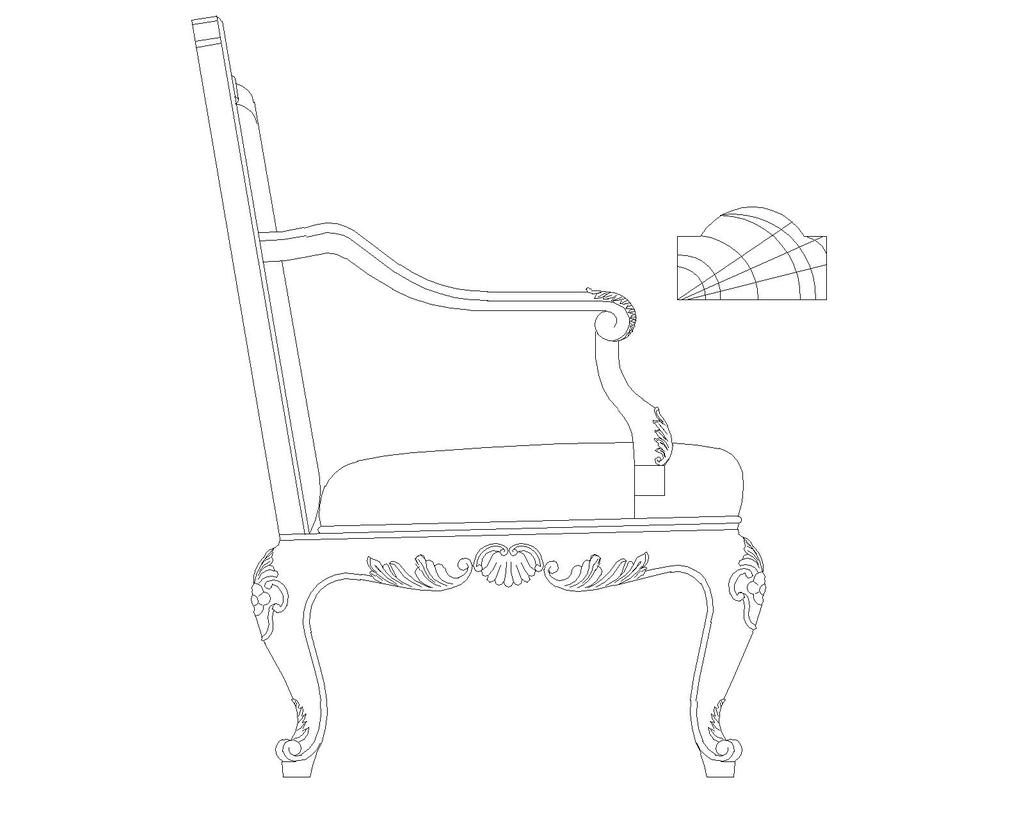 椅子系列cad图纸5