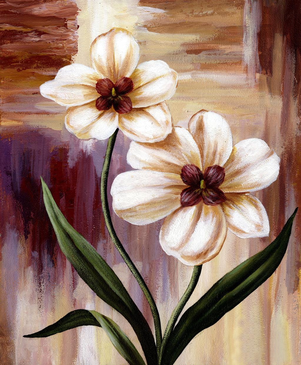 沙发电视客厅玄关装饰装修 油画 手绘油画 花朵花卉 花朵花卉 花朵