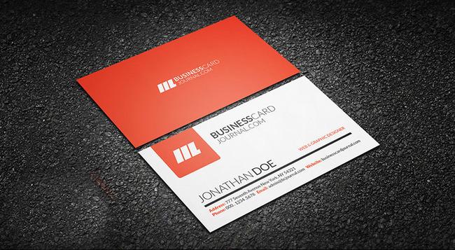 橙色创意商务名片设计模板下载 橙色创意商务名片设计图片下载