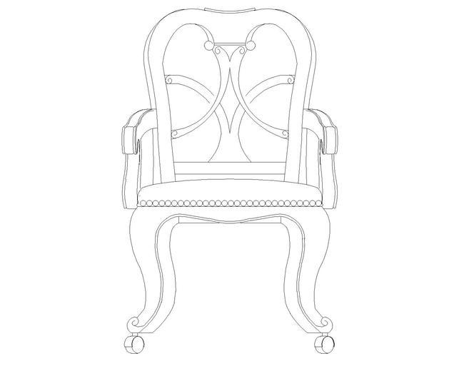 椅子cad图