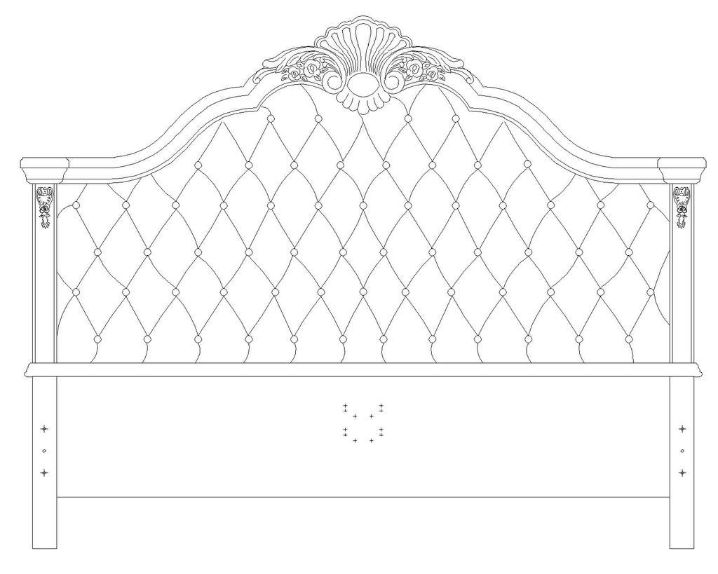 欧式床cad图纸模板下载(图片编号:12570861)