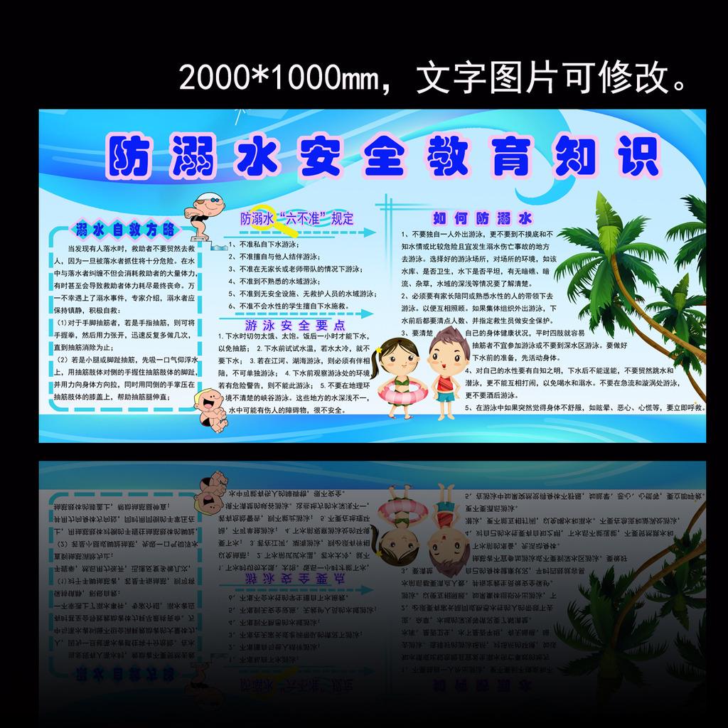 防溺水安全宣传展板