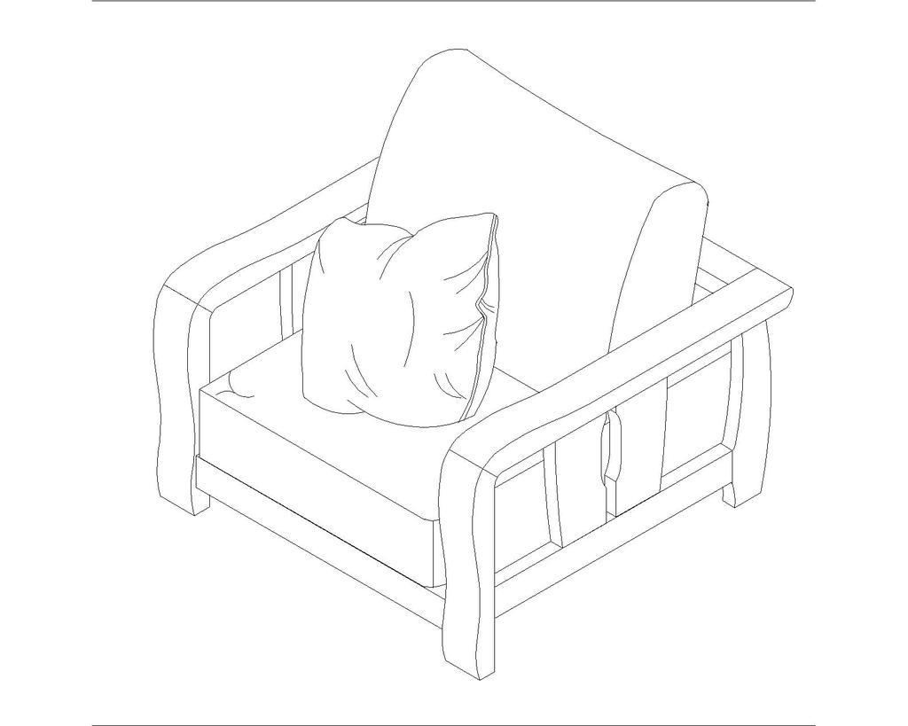实木家具材质纹理单体手绘线稿