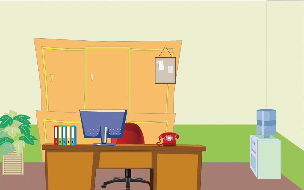 矢量办公室场景