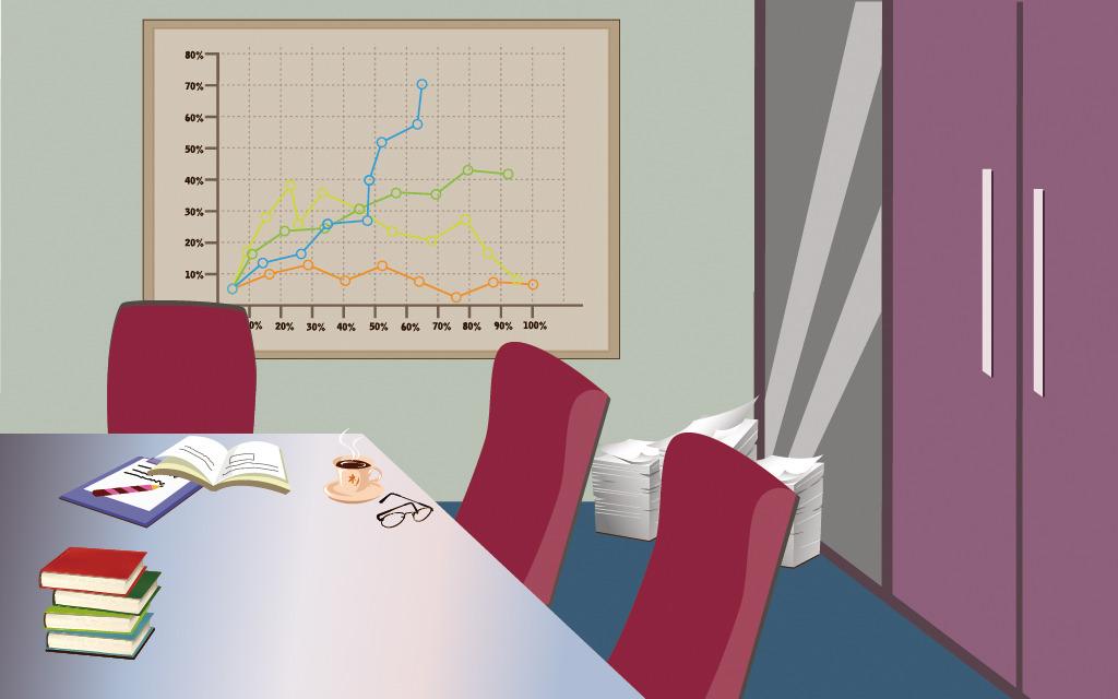 矢量办公室场景模板下载 矢量办公室场景图片下载 矢量办公室场景模板