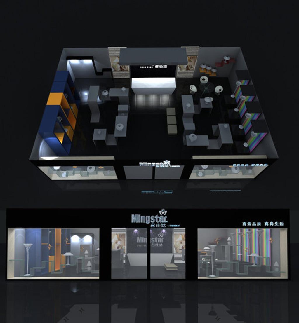 形象墙 源文件 展示模型 展示设计 mingstar店铺展示设计 3d 展示