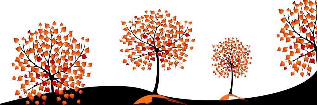 发财树抽象树艺术画
