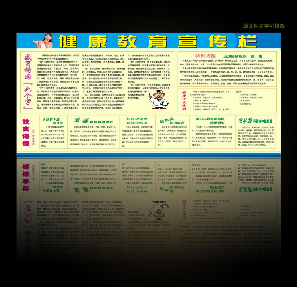 饮食保健 预防感冒 健康十大准则 养生知识展板 食物营养养生知识
