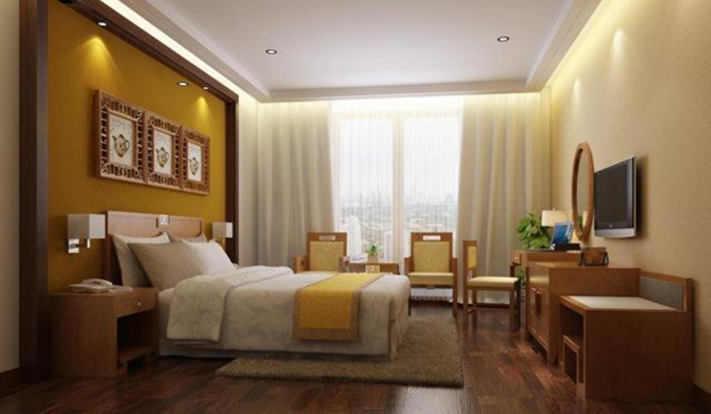 中式卧室客房家具室内效果图模板